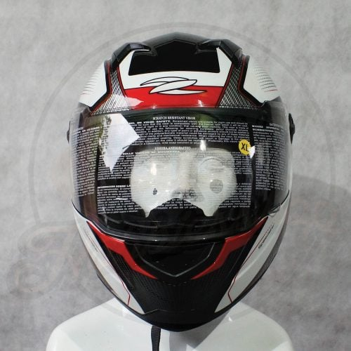 Helm Zeus 811 White Red Front