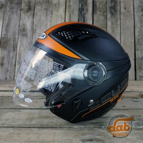 Helm Zeus 610 Black Orange 1