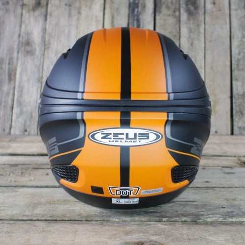 Helm Zeus 610 Black Orange 3